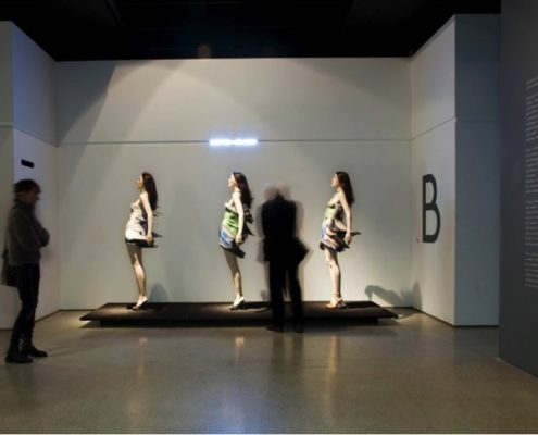 Fig 8. Installation image From Fashion and Back 'Inertia' (2009). Credit: Luke Hayes.