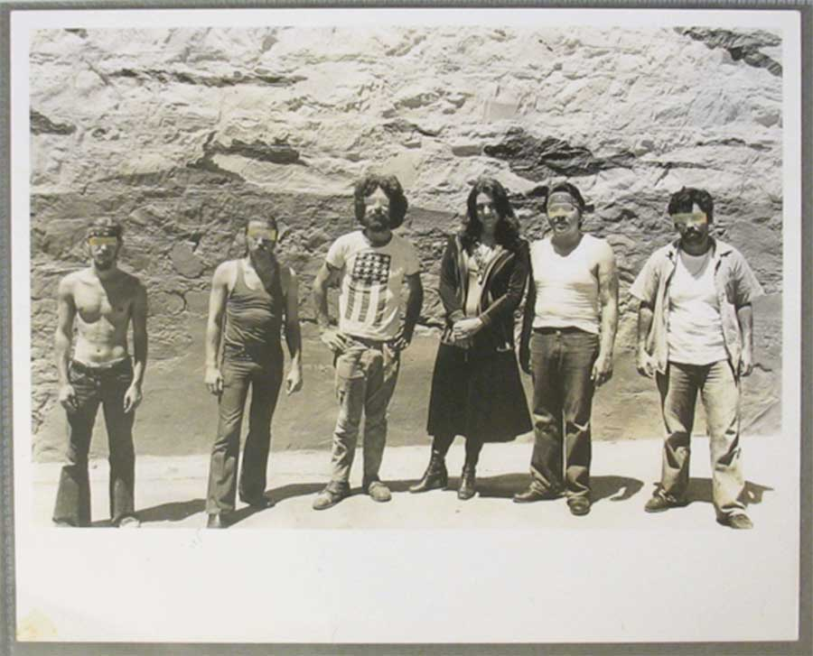 Figure 5. San Quentin State Prison mural team, 1974, The Floating Museum. Courtesy of Lynn Hershman Leeson.