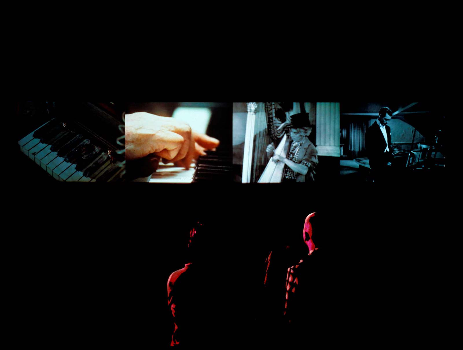 Figure 1. Christian Marclay, Video Quartet, 2002 (installation view), SFMOMA Collection.